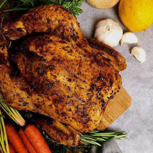 lemon herb roast chicken featured image