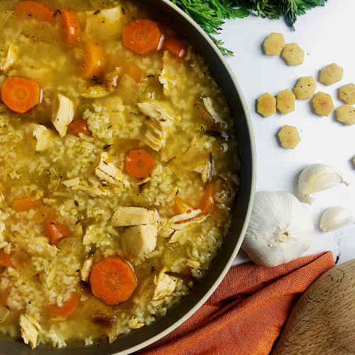 homemade chicken and rice soup featured image