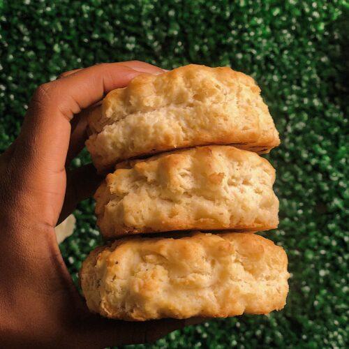 Vegan buttermilk biscuits recipe image