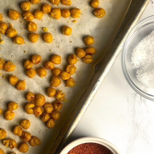oven roasted chickpeas featured image